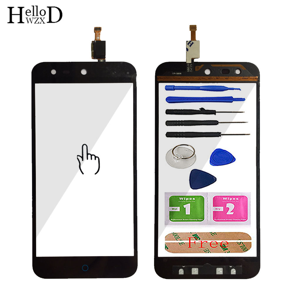 5.0'' Touch Screen Glass For ZTE Blade X5 / Blade D3 T630 Front Touch Screen Glass Digitizer Panel Lens Sensor Tools Adhesive