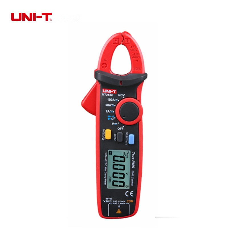 UNI-T UT210E True RMS Mini Digital Clamp Meters Capacitance Tester Earth Ground Multimeter Megohmmeter uni t ut206a 1000a digital clamp meters earth ground megohmmeter multimeter voltage current resistance insulation tester