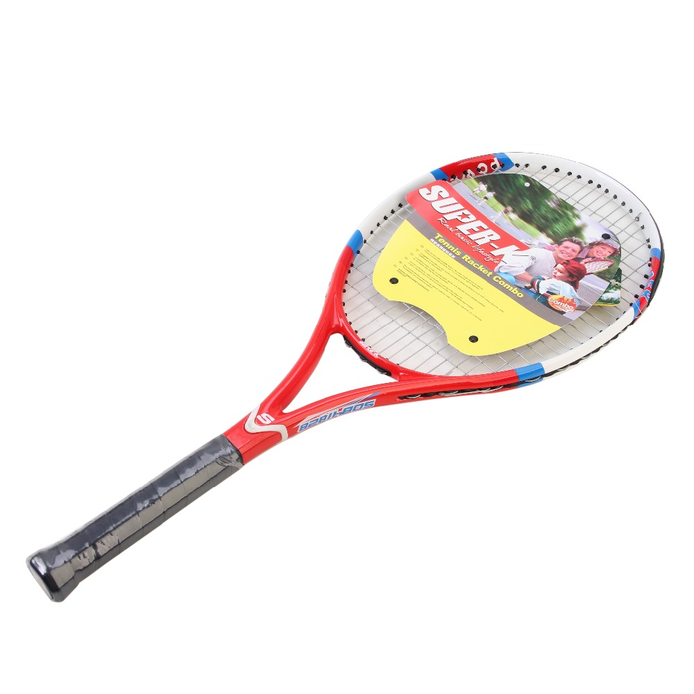 SUPER-K Hommes Femmes Professionnel Raquette De Tennis De Carbone Raquette avec Sac de Transport