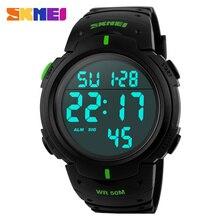 Moda Hombre Relojes Deportivos Marca SKMEI LED Reloj Electrónico Digital 50 M Impermeable Al Aire Libre Vestido de Pulsera Reloj Militar