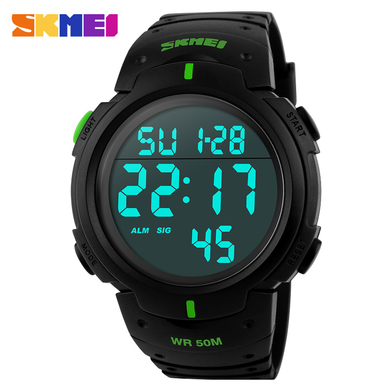 Fashion font b Men b font Sports Watches SKMEI Brand LED Electronic Digital Watch 50M Waterproof