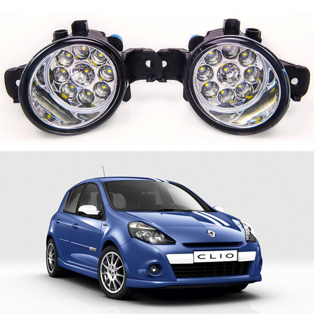 For Renault CLIO 2005-2014 Car styling  LED fog Lights high brightness fog lamps 1set бампер передний на renault clio 2001