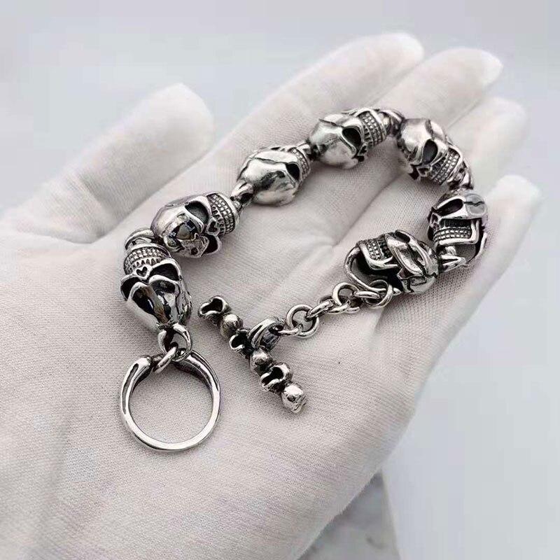 V. YA Cool 925 пробы Серебряные широкие тяжелые браслеты для мужчин плетение дизайн мужской браслет тайские серебряные ювелирные изделия 21 см 22 с... - 3