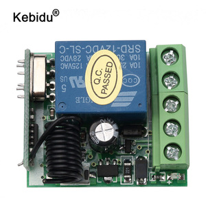 Image 1 - kebidu DC 12V 1CH Relay Receiver Module RF Transmitter 433Mhz Wireless Remote Control Switch wholesale
