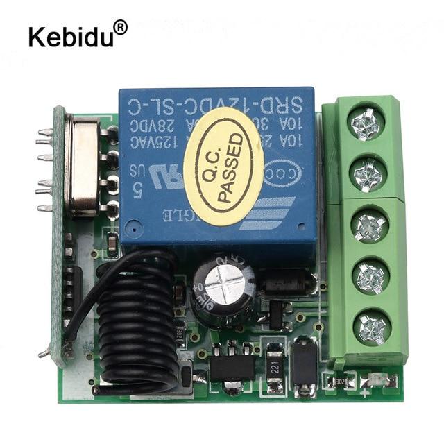 kebidu DC 12V 1CH Relay Receiver Module RF Transmitter 433Mhz Wireless Remote Control Switch wholesale