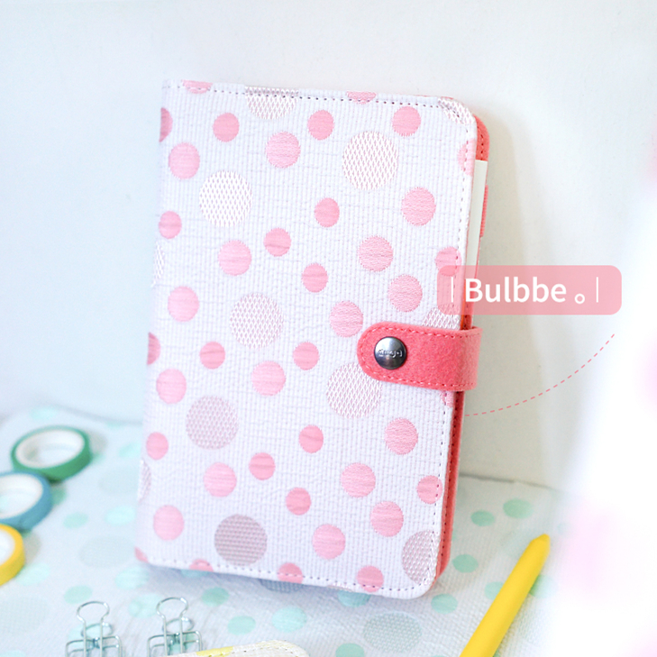 Creative New Japanese School Kawaii Cute Bubble Color Polyester Cover Ring Binder Agenda Dairy Planner Organizer A5 A6 Notebook