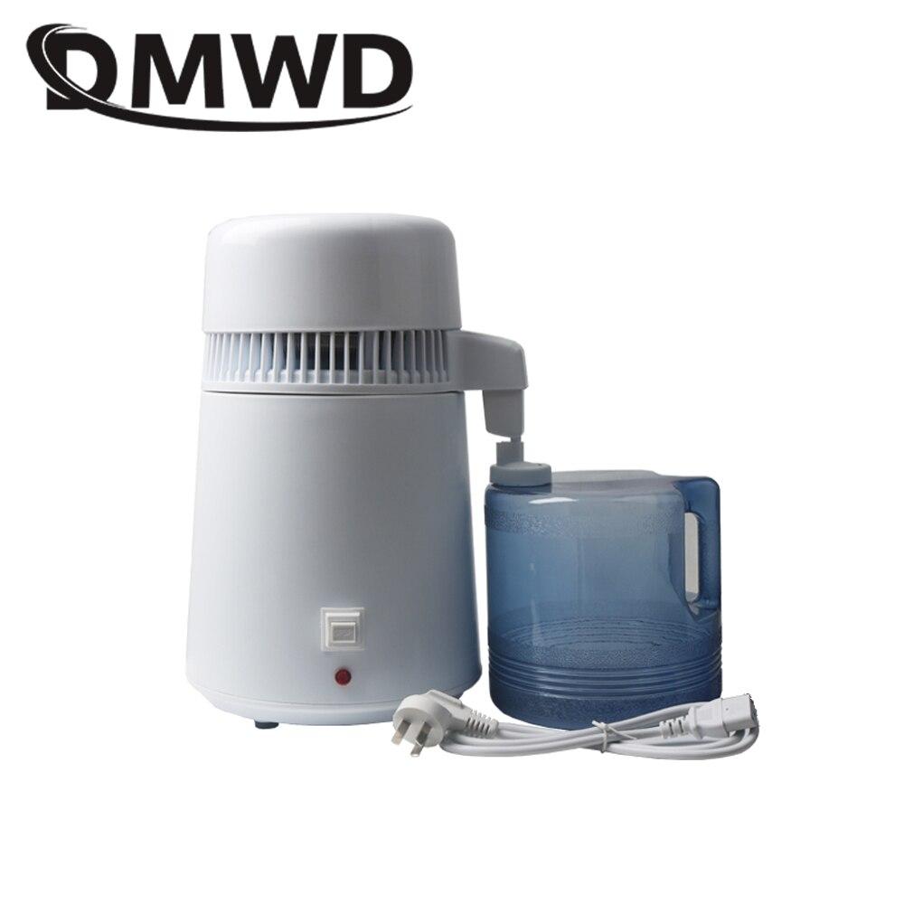 DMWD бытовой дистиллированная машина чистая вода дистиллятор фильтр Электрический дистилляции очиститель нержавеющая сталь 110 V 220 V 4L