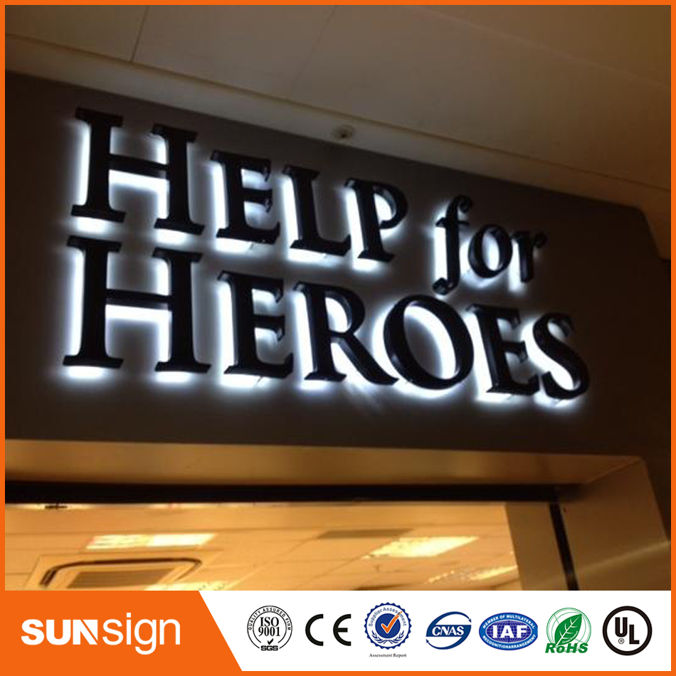 Outdoor 3d Letter Sign Acrylic Backlit Led Channel Letters