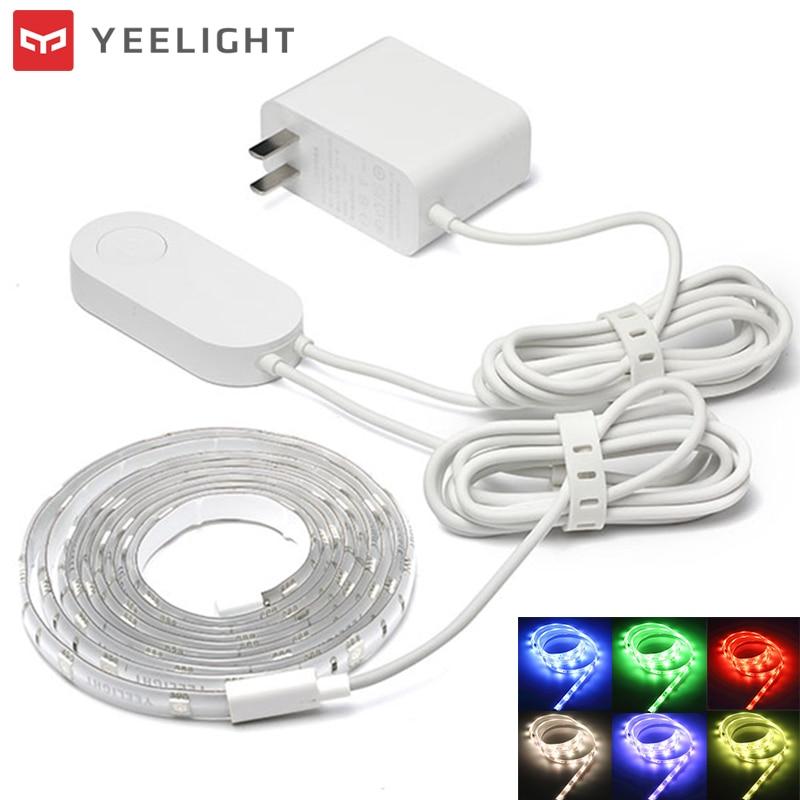 Xiaomi Yeelight 60 LED RGB Smart Light Strip WiFi Remote Control 16 Million Colors Flexible Lighting Strip Smart Remote Control