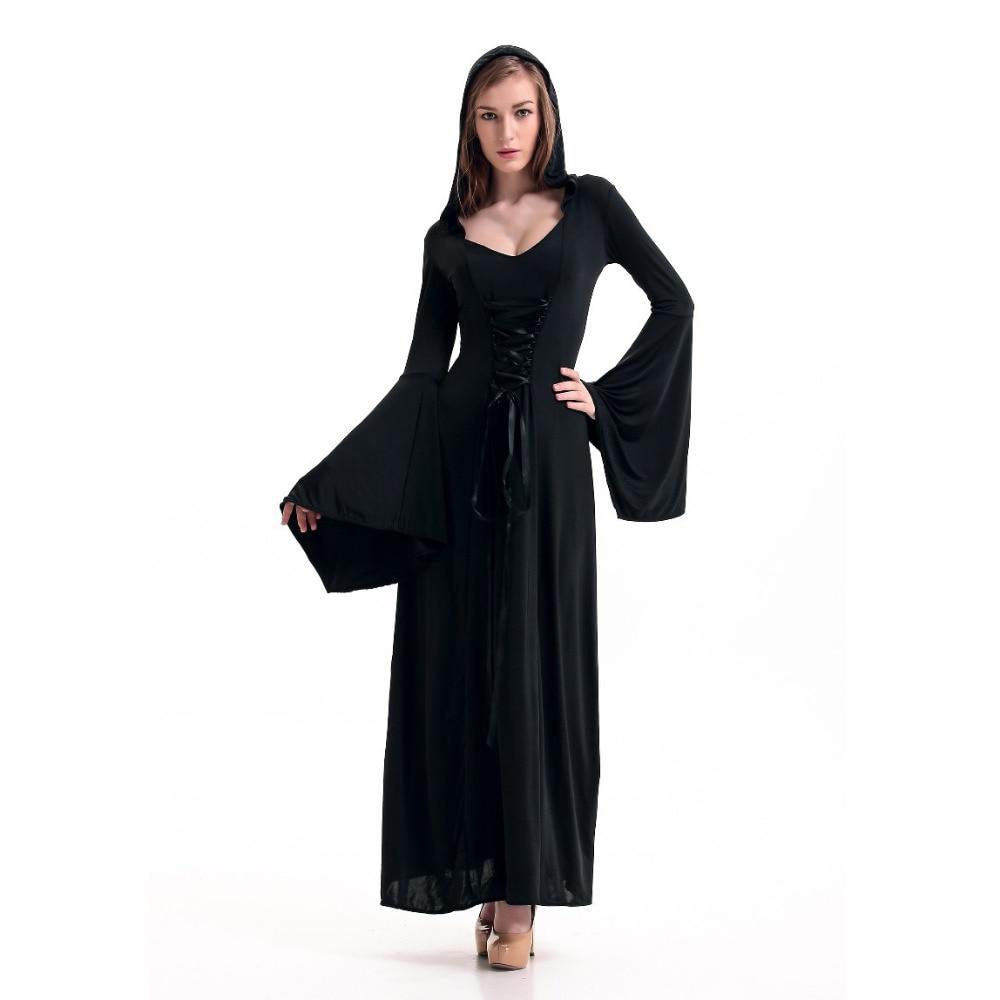 medieval dress black vintage style gothic dress floor