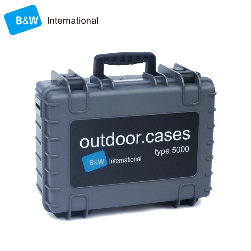 B&W type5000 Tool case toolbox suitcase Safety box Digital Equipment Cabinets SLR camera lens protective box with foam lining tool case gun suitcase box long toolkit equipment box shockproof equipment protection carrying case waterproof with pre cut foam