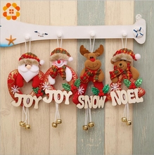 1PCS Santa Claus/Snowman/Deer Merry Christmas Doll Tree Pendants Ornaments