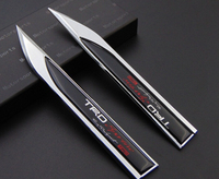 2pcs 3D Car Chromed Emblem Badge Decal Sticker Metal Fender Side TRD M Mpower Mazdaspeed China