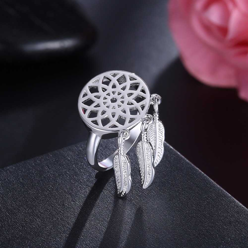 9 stile frauen 925 gestempelt silber überzogene Ring Herz/Dreamcatcher/Uhr/Unendlichkeit/Baum Des Lebens ring Für mann Silber Schmuck anel