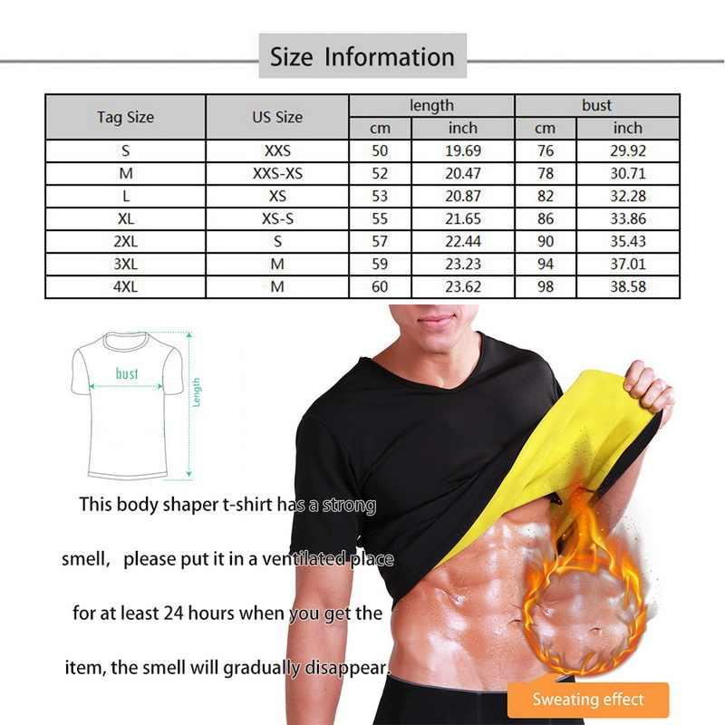男性の熱痩身 tシャツ半袖ネオプレン腹部脂肪燃焼 shaperwear ウエスト汗コルセット