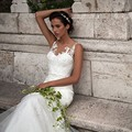 Sexy Mermaid Wedding Dress Simple Scoop Neck Sleeveless Bridal Gowns Vestido De Novia