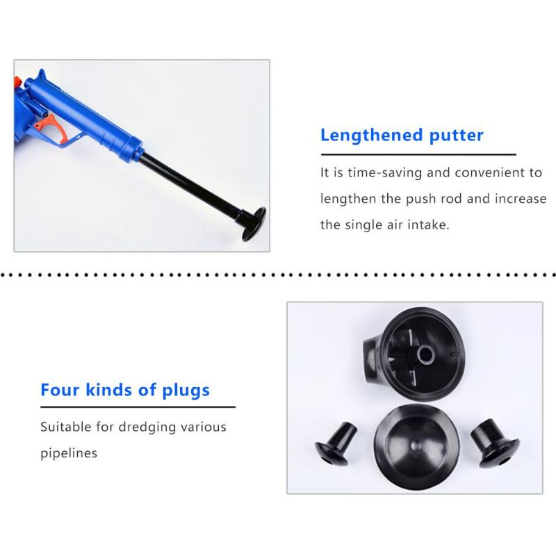 Hot Air Power Drain Blaster Gun With High Pressure And Cleaner Pump For Toilets Showers Bathroom 11