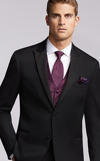 Aliexpress.com : Buy Black Groom Tuxedo Men Suit With burgundy ...