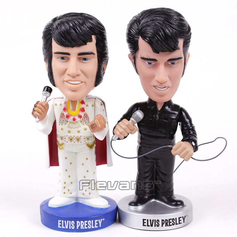 Elvis Presley ELVISLIVE Wacky Wobbler Bobble Head PVC Action Figure Collection Toy Doll 18cm 2 Styles  funko pop marvel loki 36 bobble head wacky wobbler pvc action figure collection toy doll 12cm fkg120