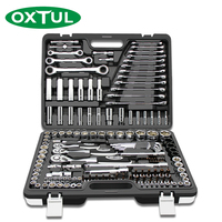 OXTUL 150PCS Professional Mechanical Auto Car Repair Tools Set Socket Wrench Ratchet Screwdriver Household CR V Steel Hand Tool