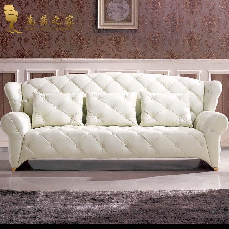 Diseño italiano alta calidad de muebles caseros sofá de cuero sofá ...