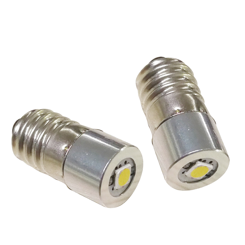 1W E10 LED Flashlight Torch Replacement Bulbs with Epistar Chips LED Bulb Light Cool White C+D Cell