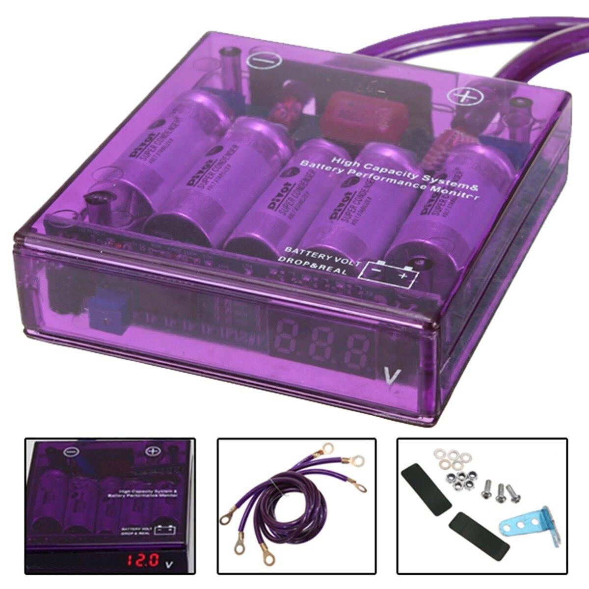 1Pc Purple Universal Car Truck Fuel Saver Voltage STABILIZER REGULATOR PIVOT MEGA RAIZIN KIT