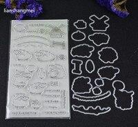 Lamb And Metal Stamping Stamp Templates DIY Scrapbook Albums DIY Paper Decorative Embossed Card Items