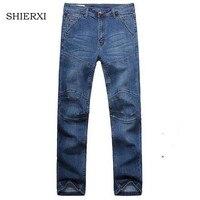 New Brand Denim Jeans Men Mid Waist Cotton Loose Elastic Men S Jeans High Quality Four