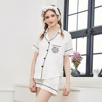 Summer Women Maternity Dress Short Sleeved Shorts Maternity Suit Cotton Yarn Fashion V Collar Nursing Clothes Sleepwear Set