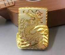 Free shipping windproof lighters two golden dragon claw