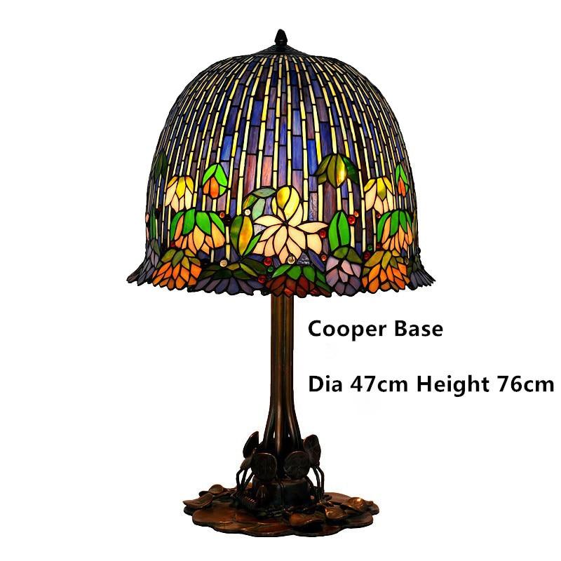 FUMAT Glas Kunst Tischlampe Qualität Europäischen Stil Seerose - Innenbeleuchtung - Foto 6