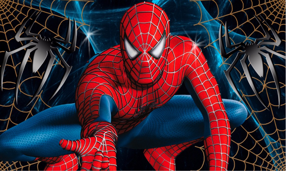 7x5FT Classic Amazing Spiderman Spider Man Web Spotlight