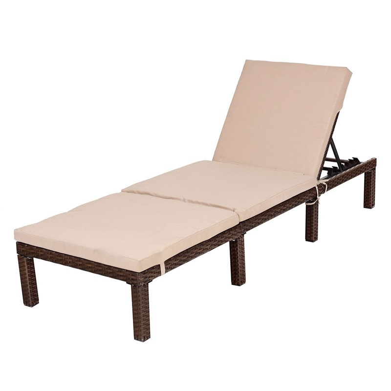 Stupendous Us 187 2 35 Off 4 Position Adjustable Back Rest Chaise Lounge Chair Outdoor Furniture Patio Rattan Beach Chairs With Cushion Hw58523 In Beach Chairs Home Remodeling Inspirations Basidirectenergyitoicom