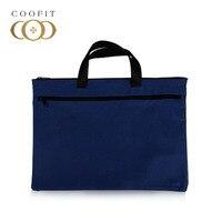 Laptop Briefcase Zipper Closure Canvas Office Briefcase Business Bag For Men Women
