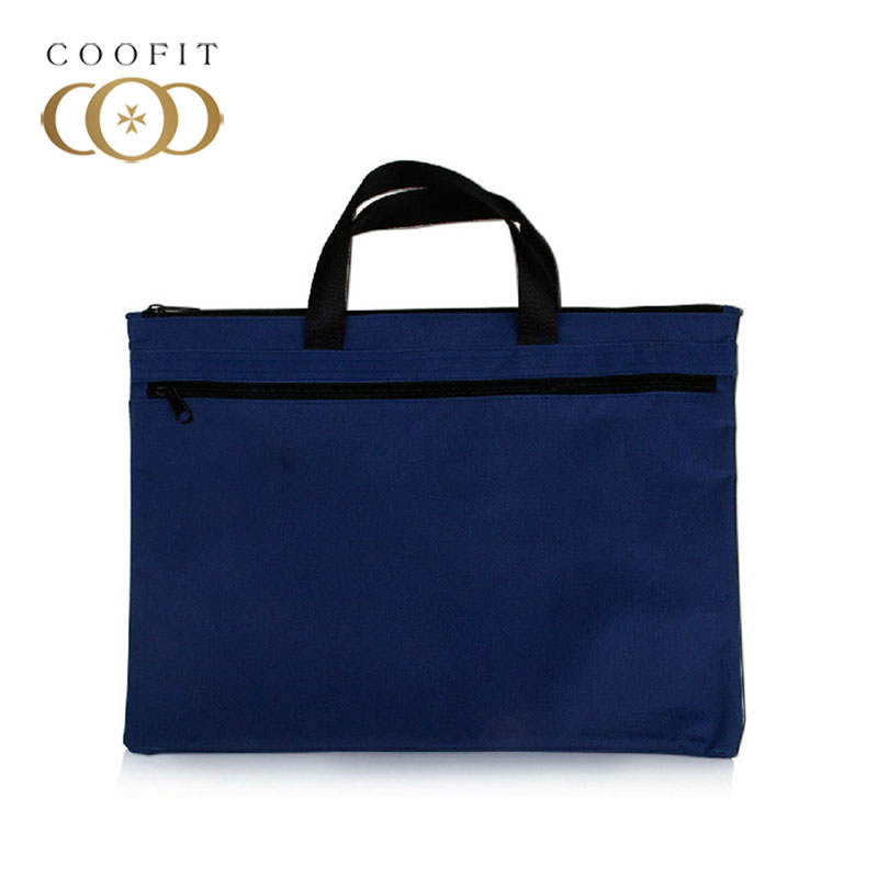 Laptop Briefcase Zipper Closure Canvas Office Briefcase Business Bag for Men Women
