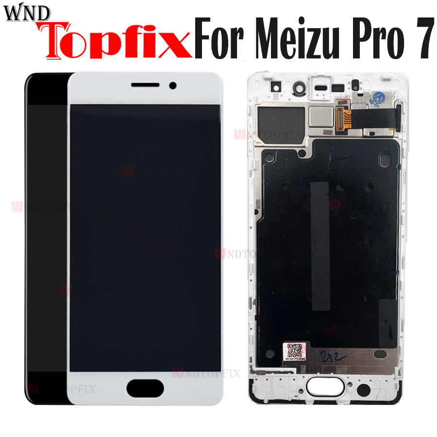 5 2 Super AMOLED 100 Tested LCD Display For Meizu Pro 7 LCD Touch Screen Digitizer