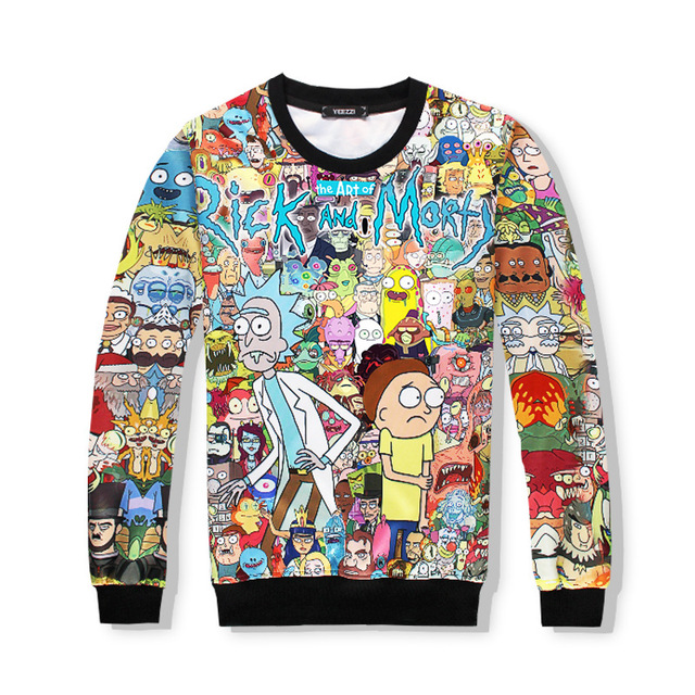 f471a60ae7a0 New fashion mens women Sweatshirt Cartoon Rick and Morty 3d print harajuku  style Autumn Crewneck Sweatshirt