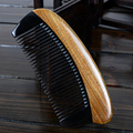 High-quality horn combs can put in bag natural genuine green sandalwood comb massage hair care horn comb anti-static