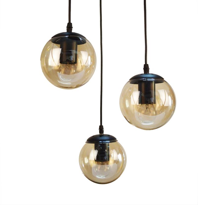 ФОТО The modern black glass bean lights Ball indoor pendant light restaurant bedroom designer lamp art Beanstalk pendant lamps