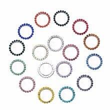 Новый внутренний размер 25 мм 50 шт./лот горный хрусталь кнопки DIY Алмаз Кнопка приглашение Гэйл волос цветок аксессуар смешивать 16 видов цветов BTN-5494