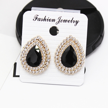 цена на Classic Fashion Brand New Water Drop Rhinestone Earring Elegant Crystal Clip Earrings For Women Trendy Wedding Girls Jewelry