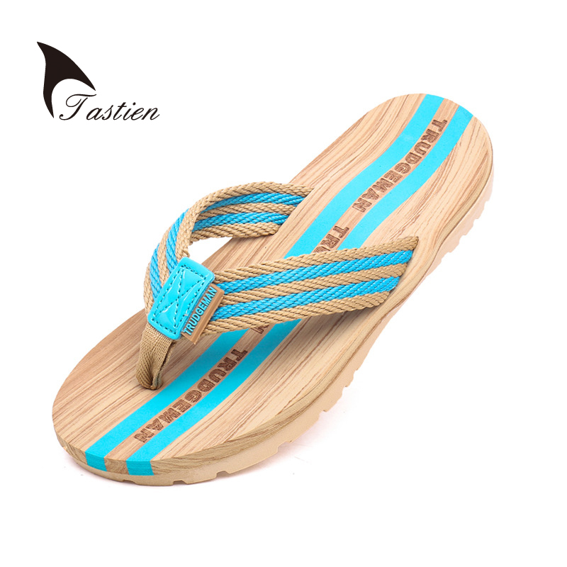 TASTIEN Men Women Flip Flop Slippers Summer Beach Shoes Male Female Couples Slippers Flip Flop Slide