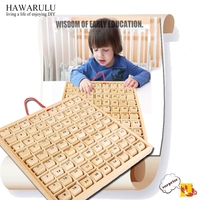 Wood Crafts DIY gift Nine nine multiplier board for children's puzzle toys 10*10 multiplier board for wooden building blocks