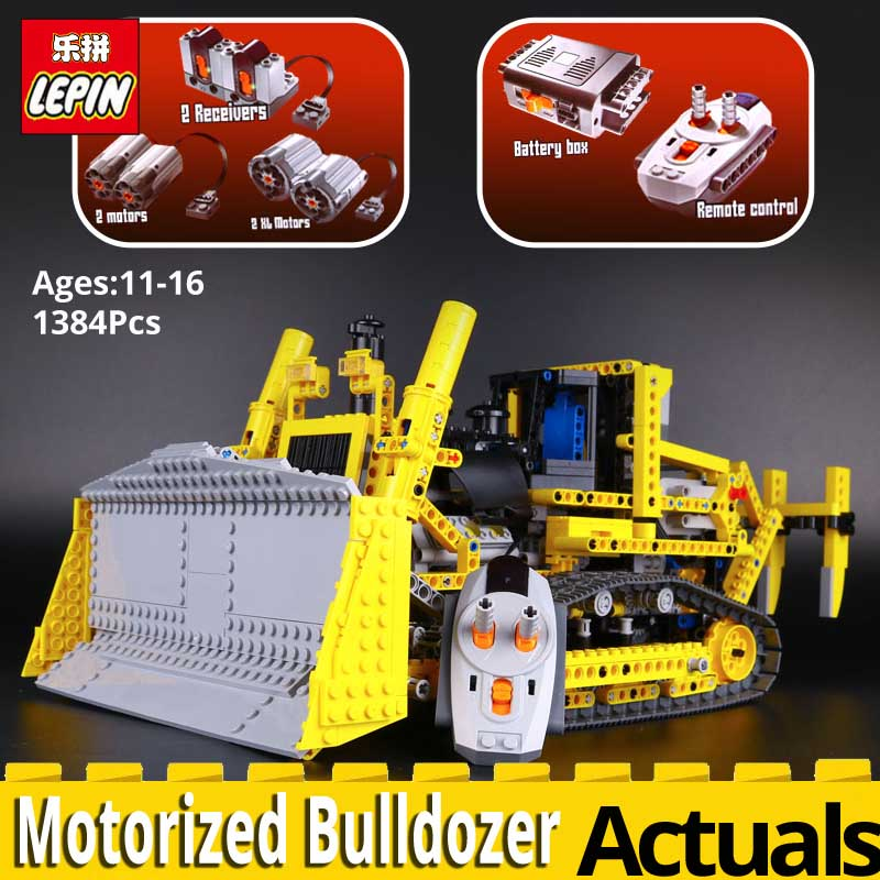 LEPIN technic 20008 Motorized Bulldozer Model Toy Assembling Building block Bricks kits legoing technic 42030 Car toys for boy lepin 20008 technic series remote contro lthe bulldozer model assembling building block bricks kits compatible with 42030