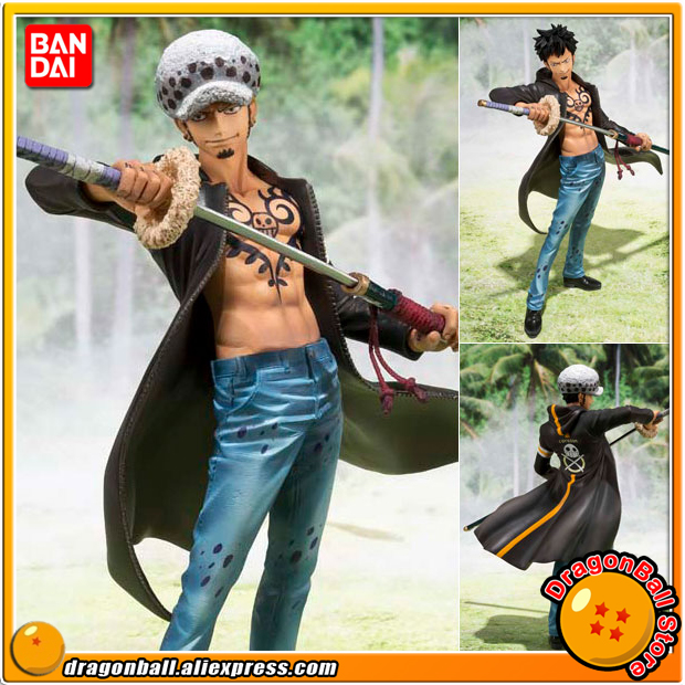 Japan Anime ONE PIECE 100 Original BANDAI Tamashii Nations Figuarts Zero Figure Trafalgar Law Dressrosa Arc In Action Toy Figures From Toys Hobbies
