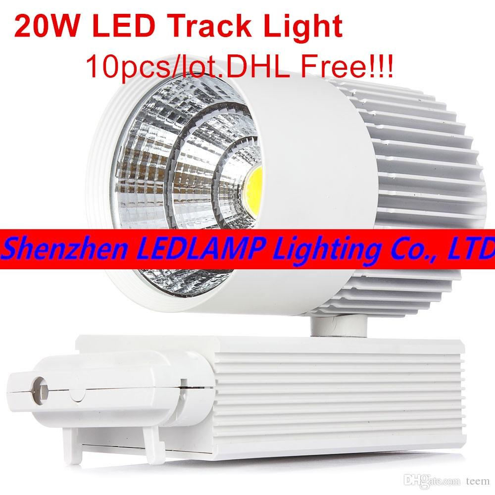 LED COB Track Light 20W Indoor Lighting Rail Lights