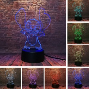 Image 2 - ¡Oferta! Lámpara de noche de 7 colores para regalar a niños de amhugs, Mickey, Minnie, raro, Peter Pan, campanilla, campanilla, princesa copo de nieve, 2020