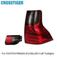 Для TOYOTA LAND CRUISER PRADO FJ150 2011 2012 2013 2014 2015 2016 2017 2018 светодиодный задний блок освещения лампы