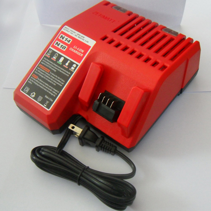 110V Lithium Li-ion Battery Charger Replacement For Milwaukee M18 18V charger for bosch lithium ion battery charger 110v